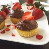 Paleo Cupcakes w/Strawberry Filling & Chocolate Frosting