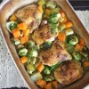 One Pan Butter Chicken Thighs and Veggies