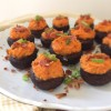 Sweet Potato & Bacon Stuffed Mushrooms